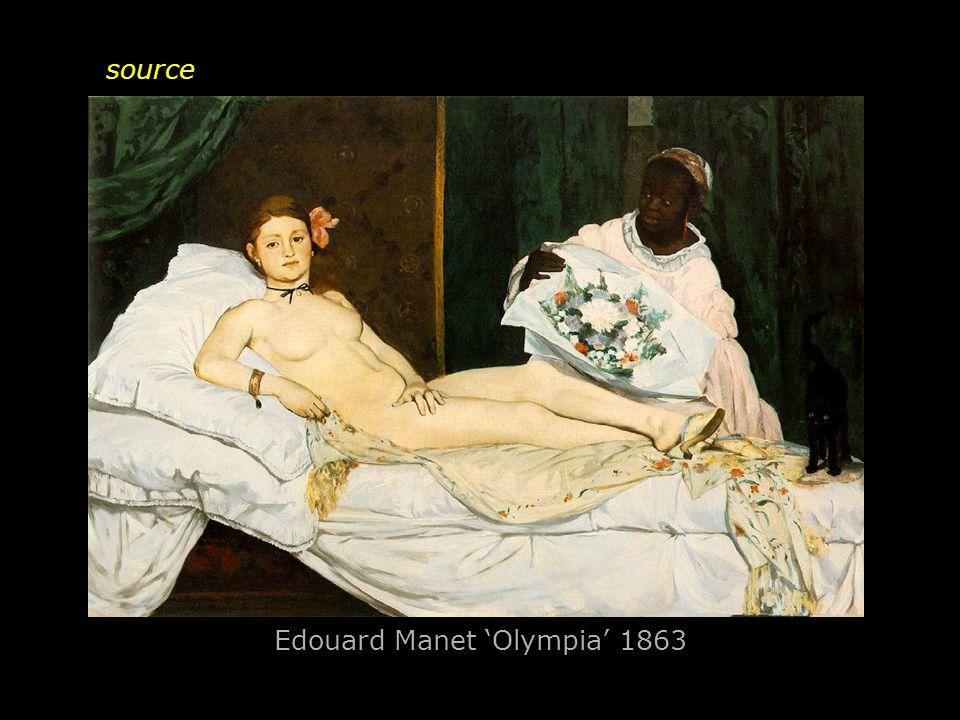 Edouard Manet 'Olympia' 1863 source