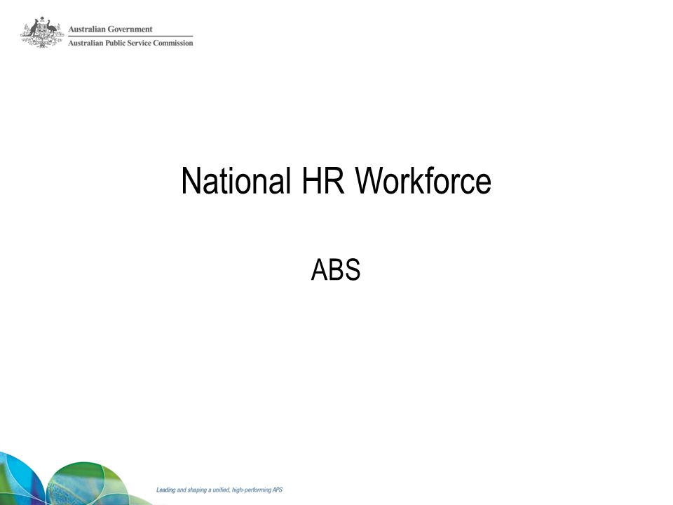 National HR Workforce ABS