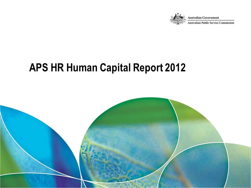 APS HR Human Capital Report 2012