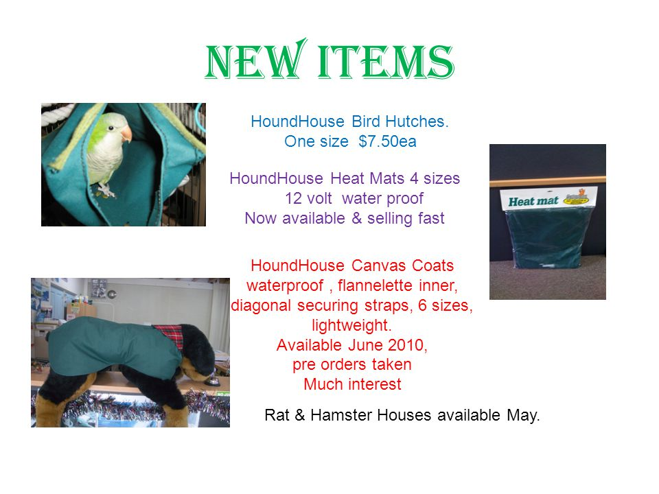 New Items HoundHouse Bird Hutches.