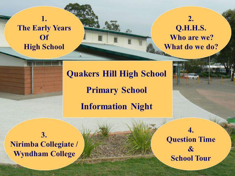 Quakers Hill High School Primary School Information Night 2.