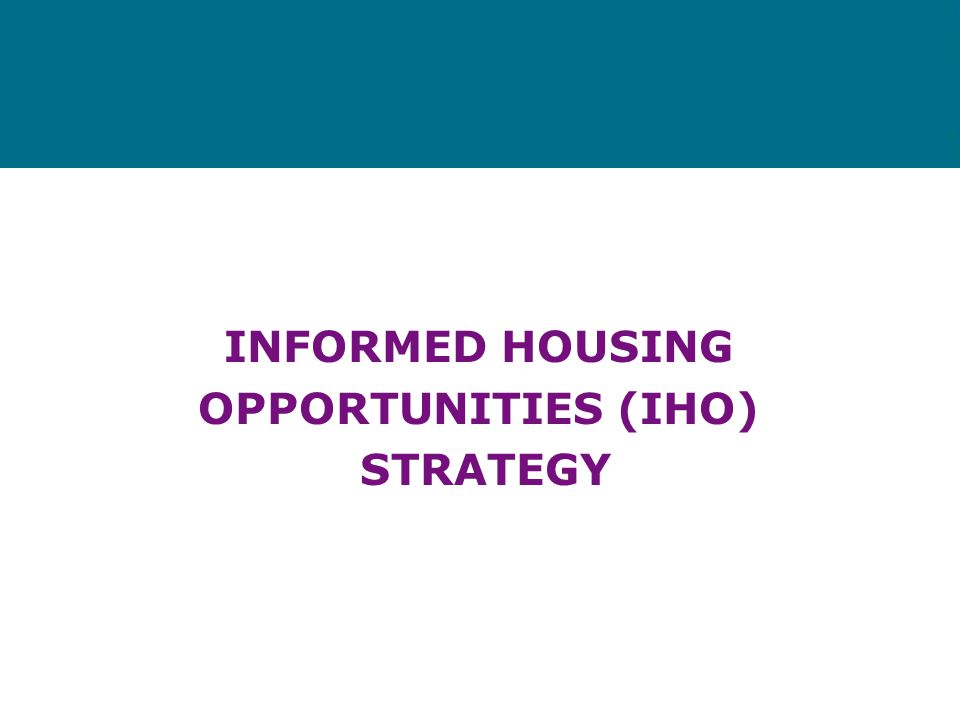 Recurring Homelessness Segment Current housing is unsuitable and/or there is a housing crisis and there is a history, or high risk of, recurring homel