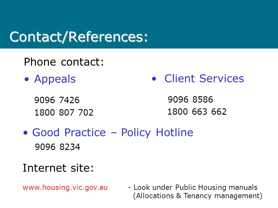 Eligibility Review policy The Eligibility Review policy is designed to increase contact with Early Housing applicants who have waited extended periods