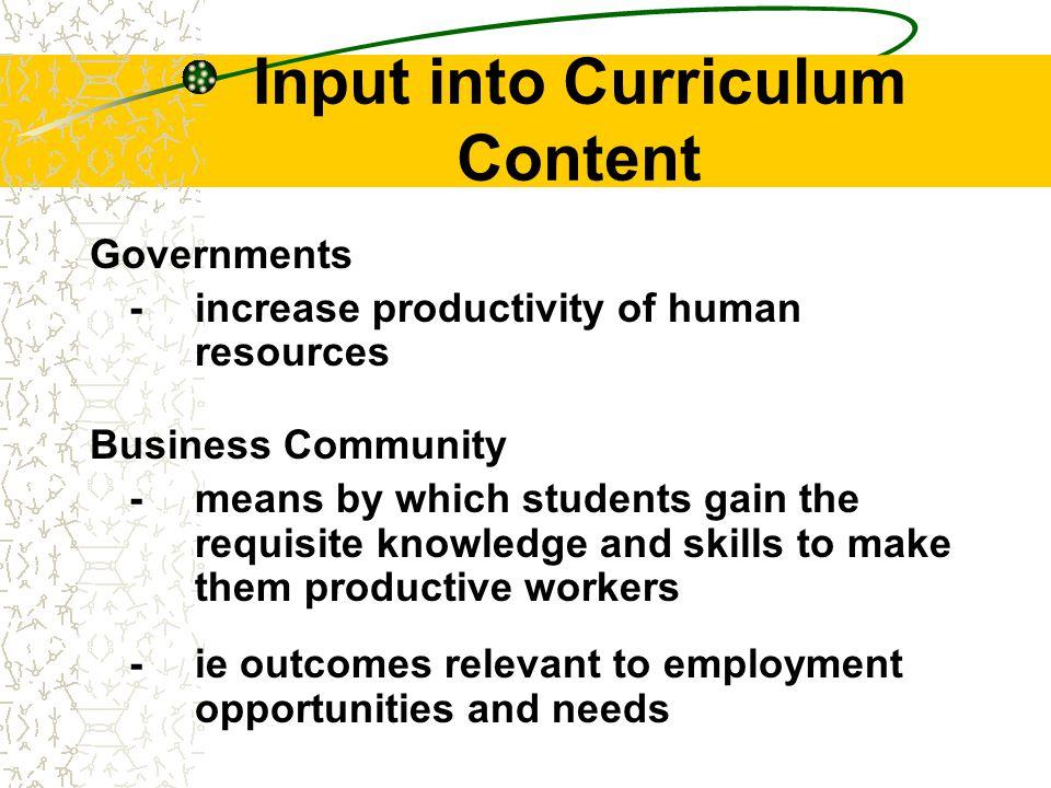 Curriculum Definitions: Classroom practice...