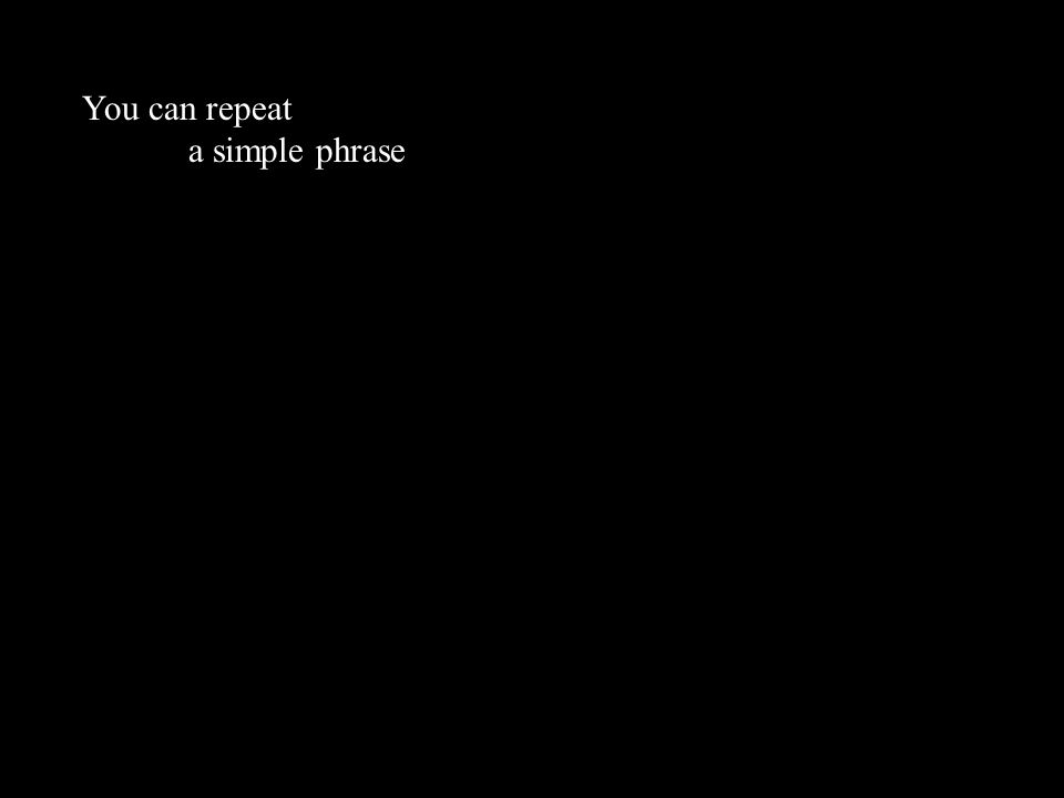a simple phrase