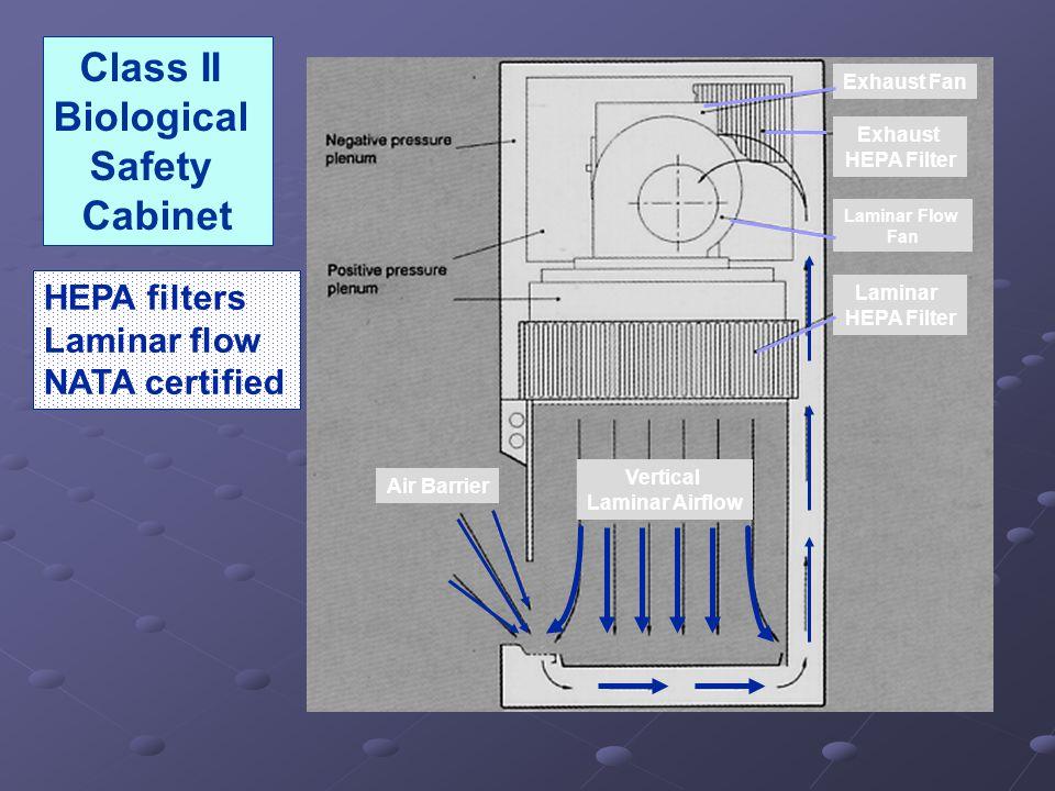 Vertical Laminar Airflow Air Barrier Exhaust Fan Exhaust HEPA Filter Laminar Flow Fan Laminar HEPA Filter Class II Biological Safety Cabinet HEPA filters Laminar flow NATA certified