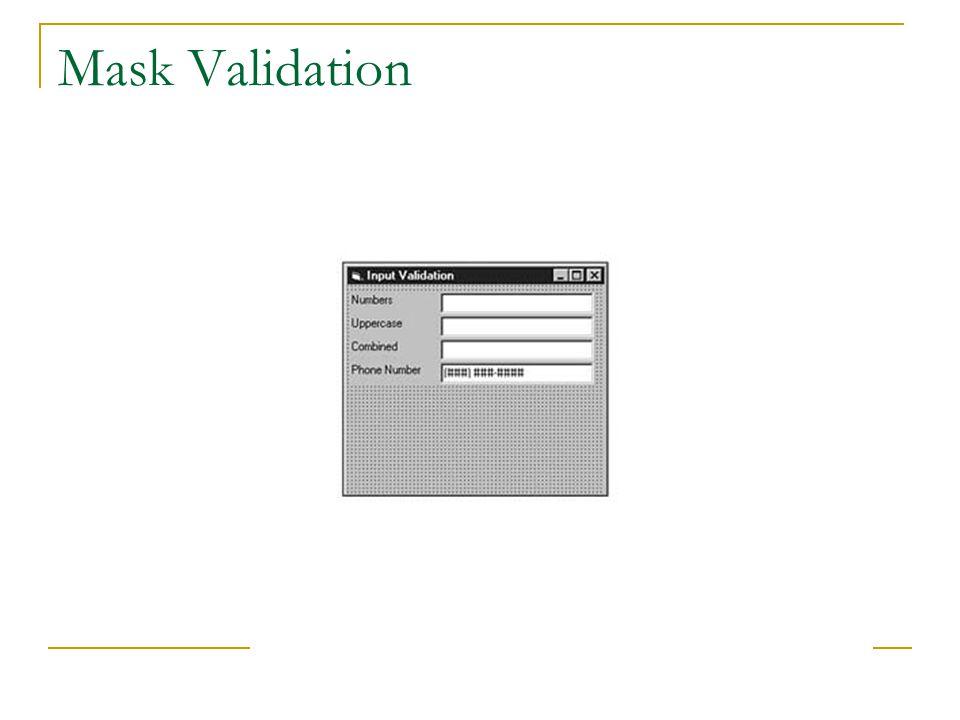 Mask Validation