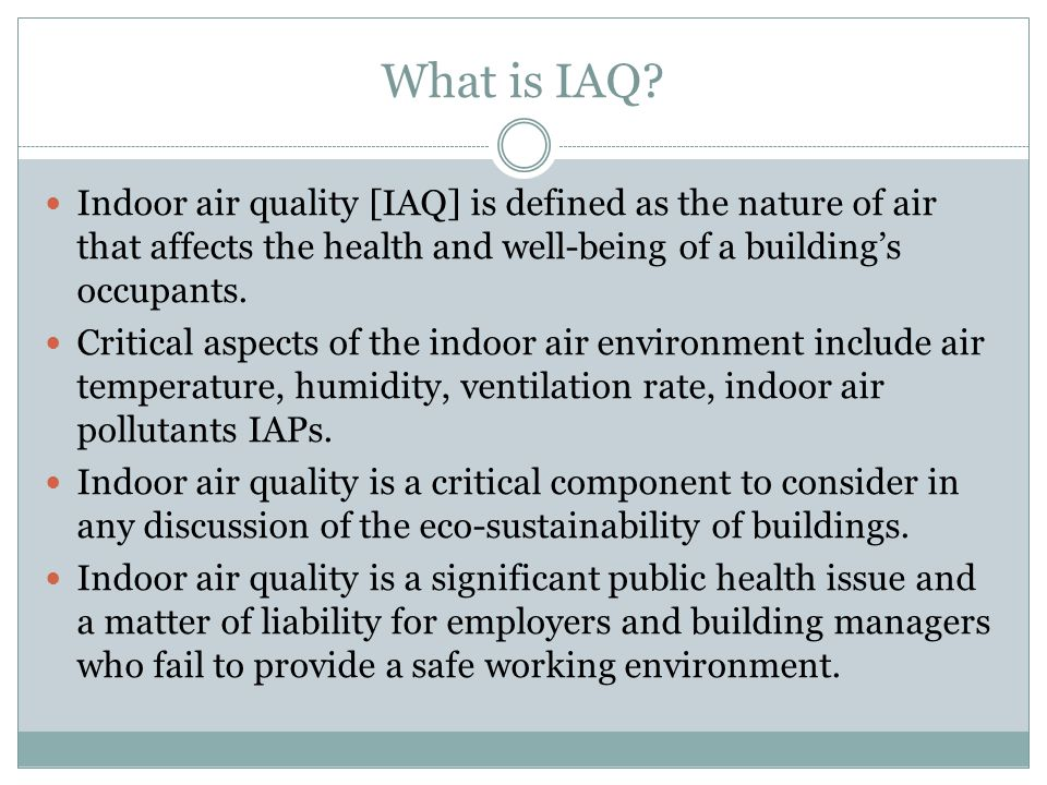 What is IAQ.