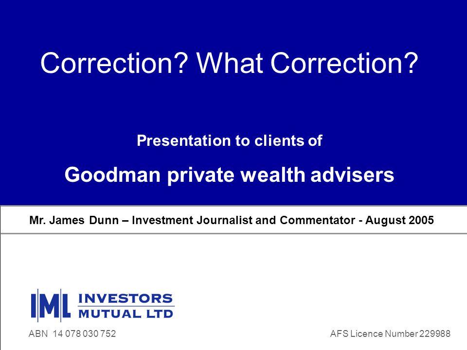 www.iml.com.au James Dunn Presentation