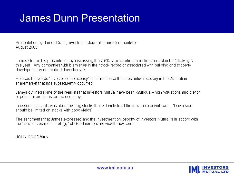 www.iml.com.au The Autumn Correction