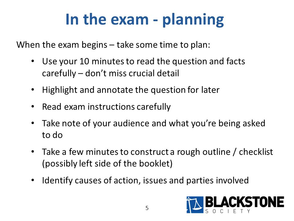 In the exam – writing After reading and planning – begin writing.
