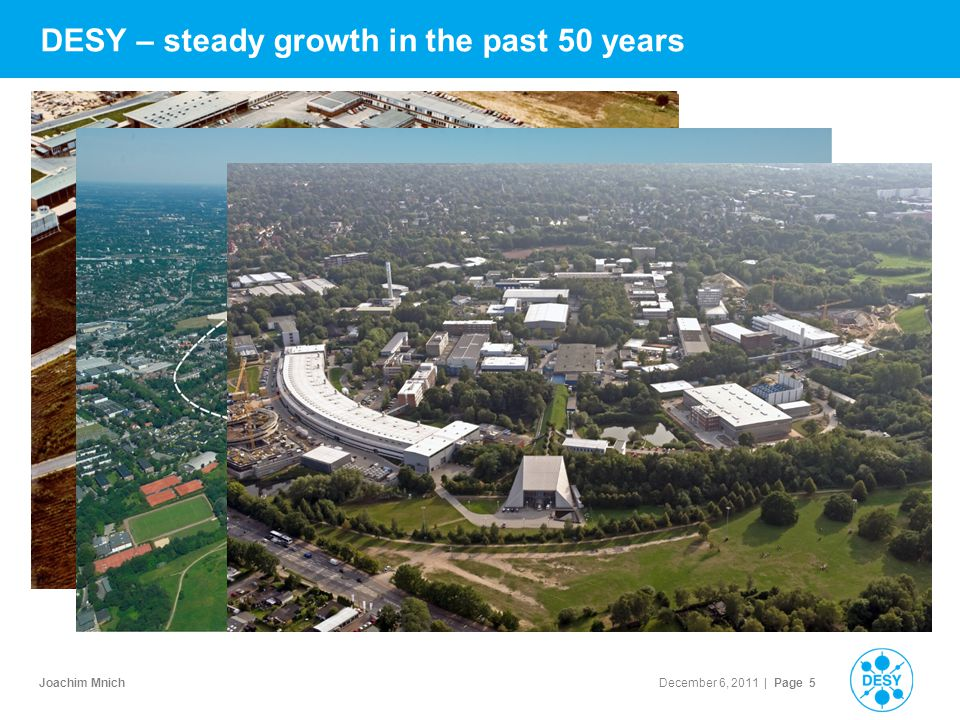 Joachim Mnich December 6, 2011 | Page 5 1965: DESY DESY – steady growth in the past 50 years >Hamburg