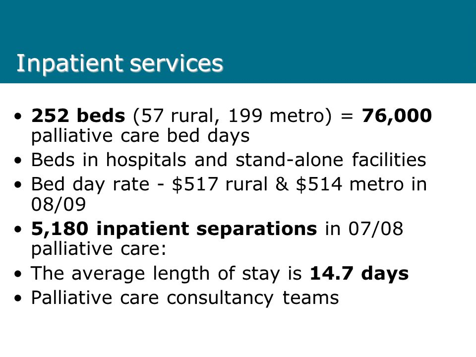 Inpatient bed days 07/08 & 08/09 YTD