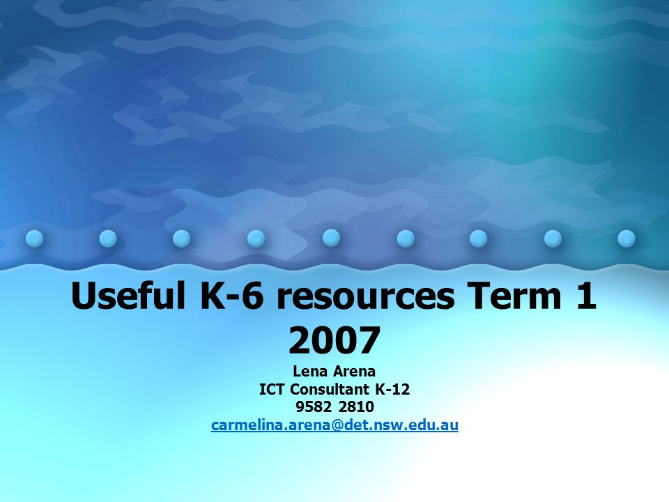 2007 ICT Projects Creating WebQuests for the K-12 curriculum Integrating technology into COGs Using technology to engage students in the middle years Using the free software Hot Potatoes to develop interactive web based teaching resources PowerPoint and peripherals in the K-12 curriculum