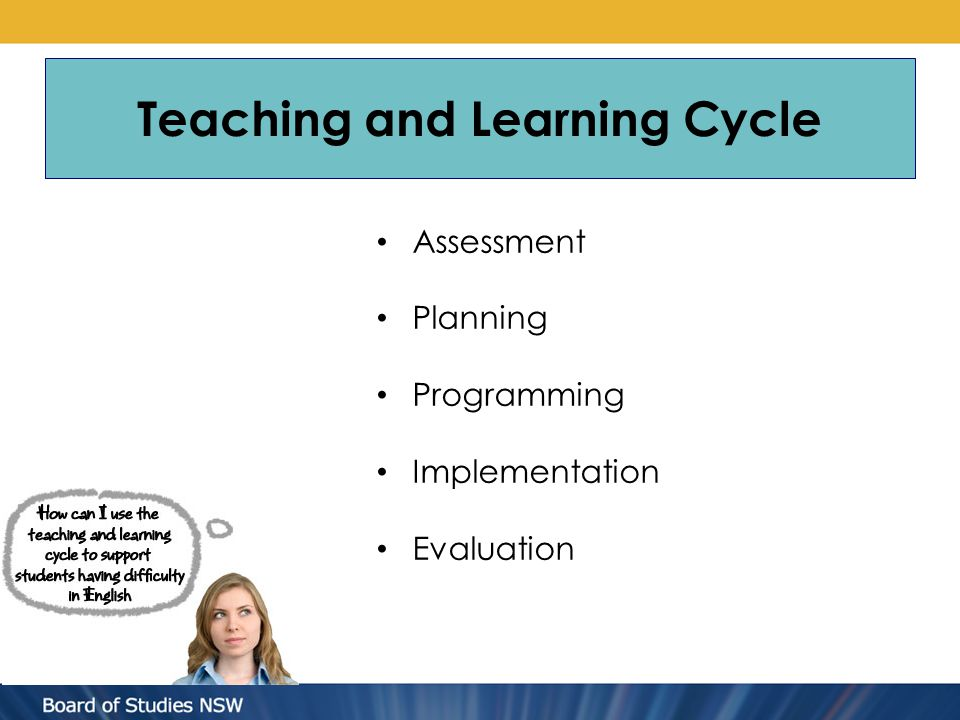Assessment Planning Programming Implementation Evaluation Teaching and Learning Cycle