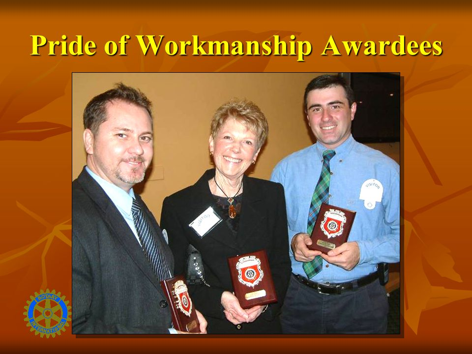 Pride of Workmanship Awardees