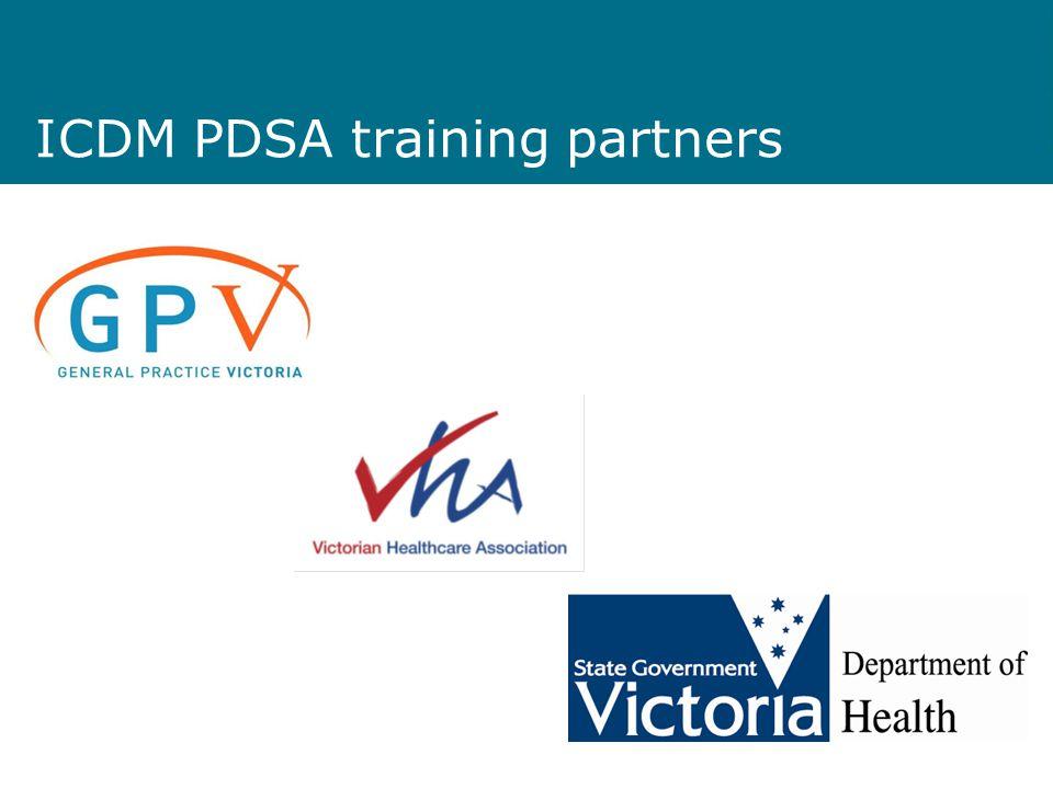 ICDM PDSA training partners