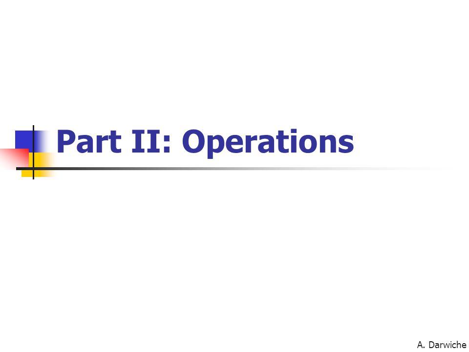 A. Darwiche Part II: Operations
