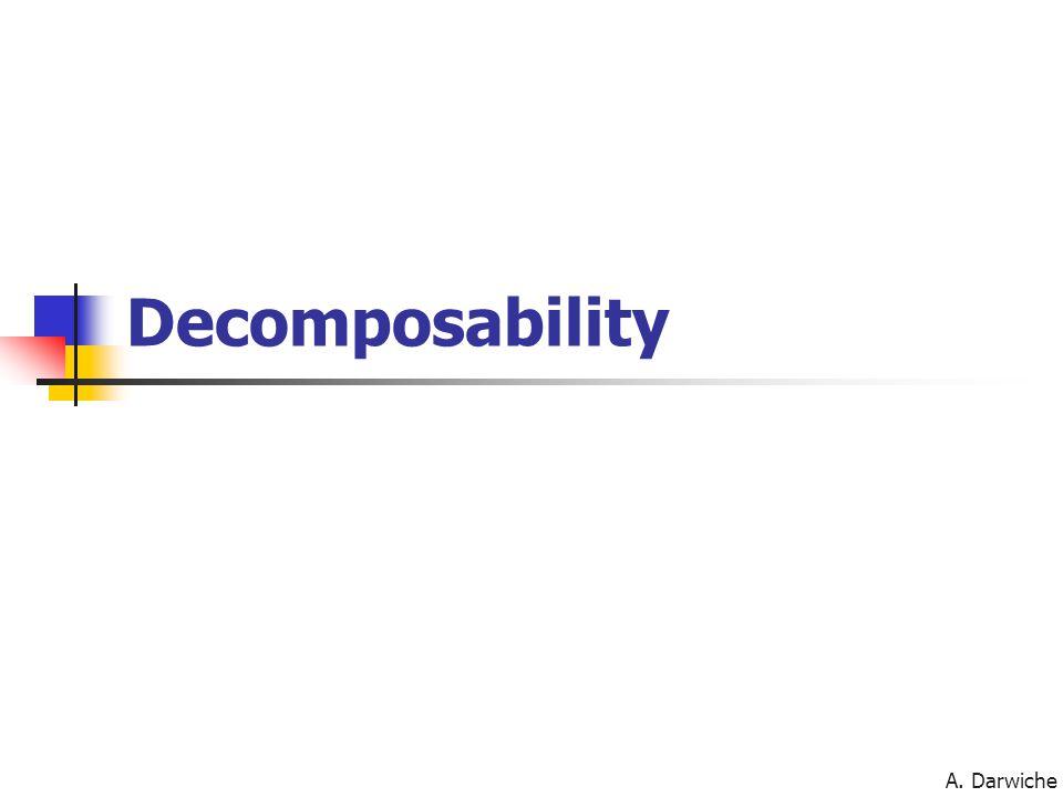 A. Darwiche Decomposability