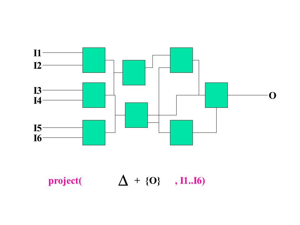I1 I2 I3 I4 I5 I6 O + {O}  project(, I1..I6)