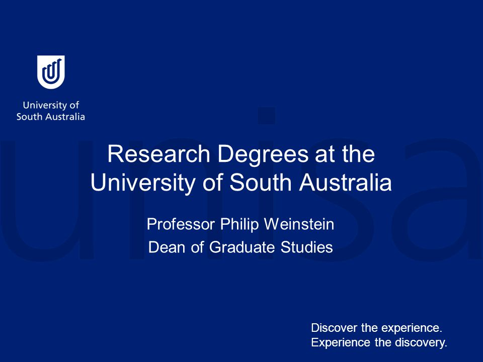 UniSA – in the heart of Adelaide, where research students enjoy a great lifestyle!