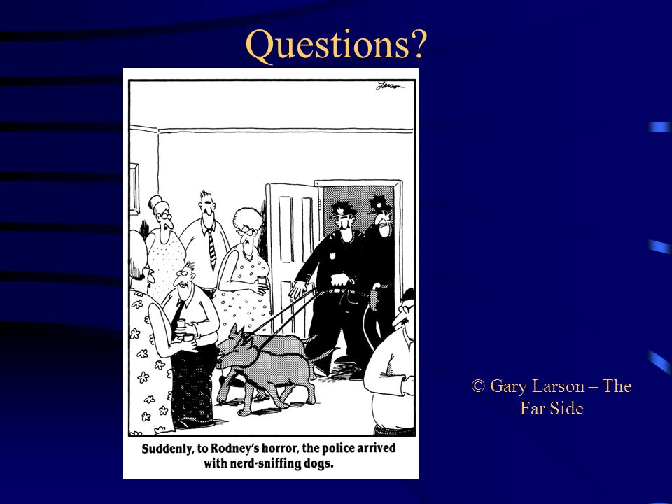 Questions © Gary Larson – The Far Side
