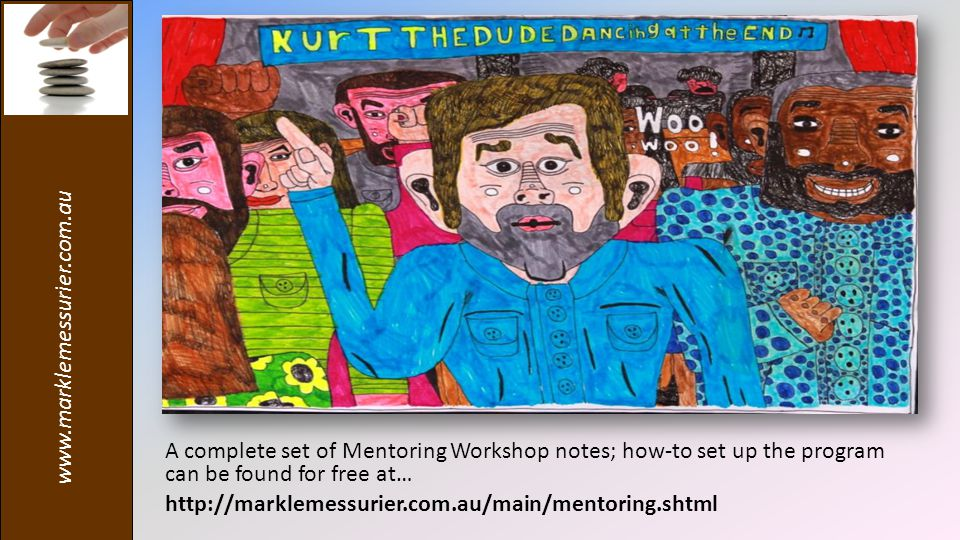 A complete set of Mentoring Workshop notes; how-to set up the program can be found for free at…