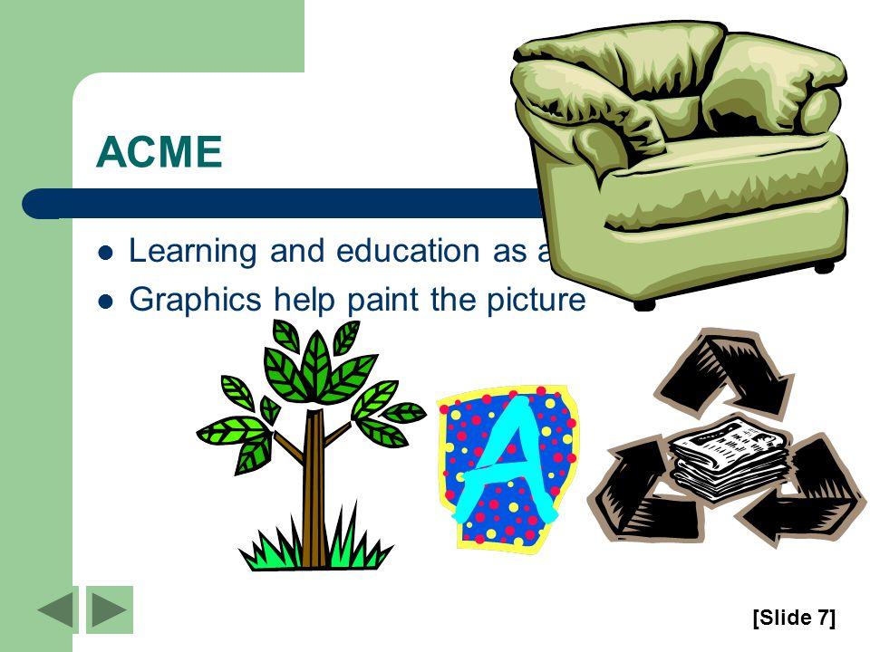 ACME Graphs help paint the picture [Slide 6]