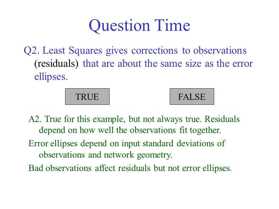 Question Time Q2.