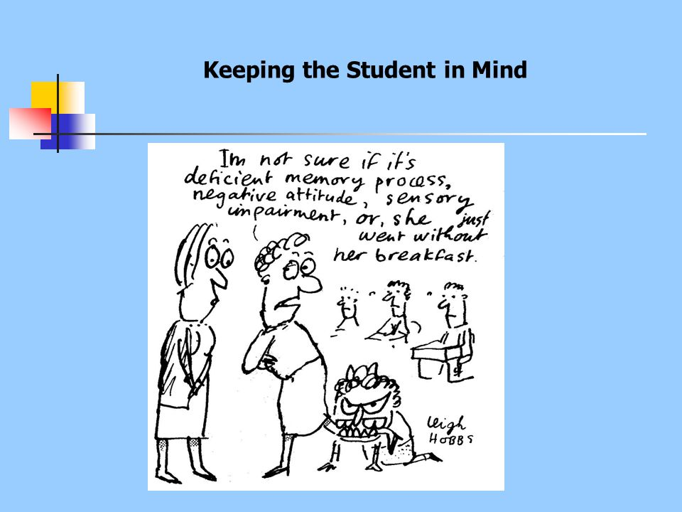 Keeping the Student in Mind