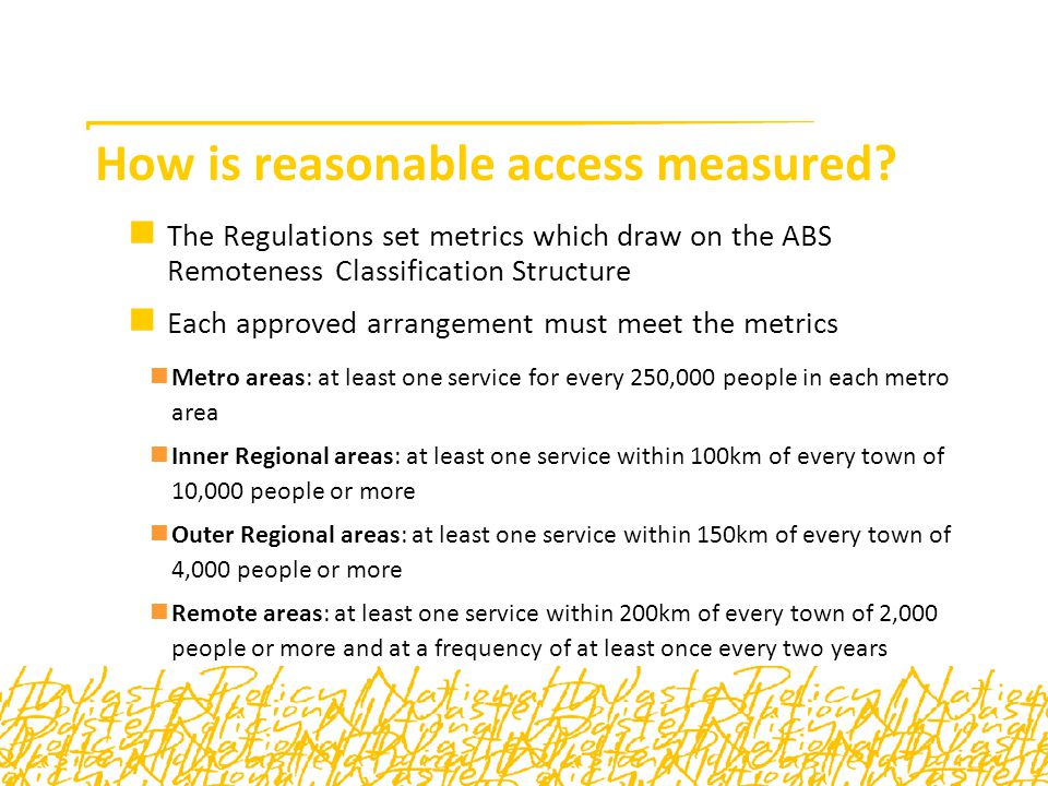 How is reasonable access measured.