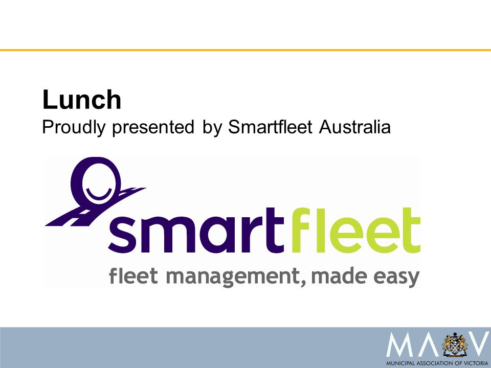 Lunch Proudly presented by Smartfleet Australia