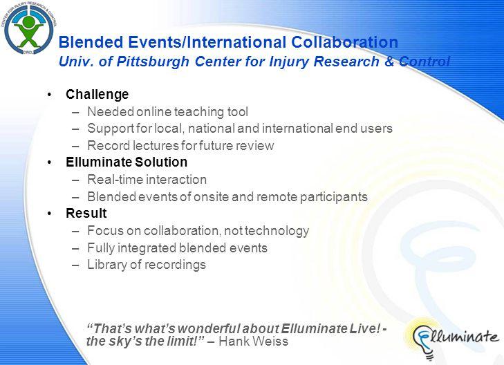 Blended Events/International Collaboration Univ.