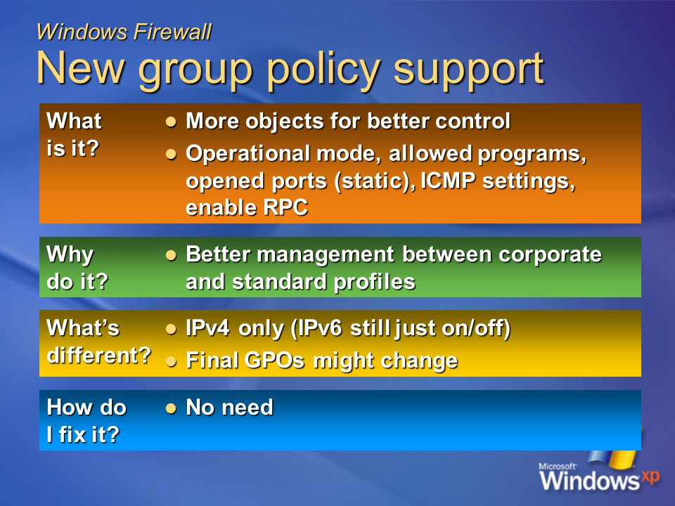 Windows Firewall New group policy support What is it.