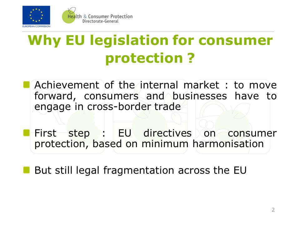 2 Why EU legislation for consumer protection .