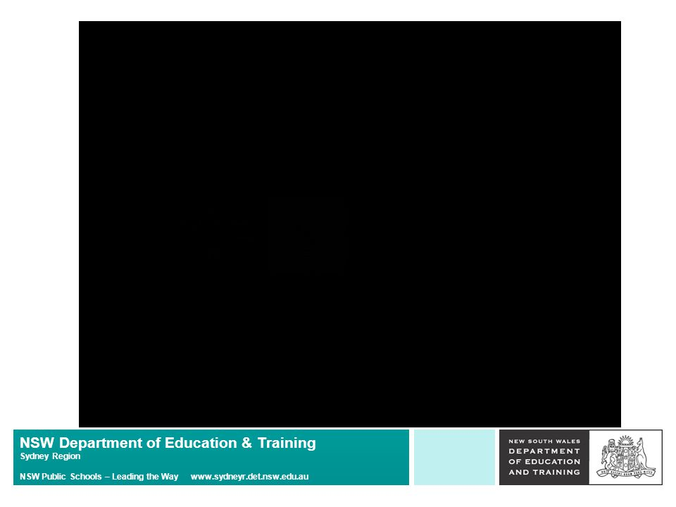 NSW Department of Education & Training Sydney Region NSW Public Schools – Leading the Way