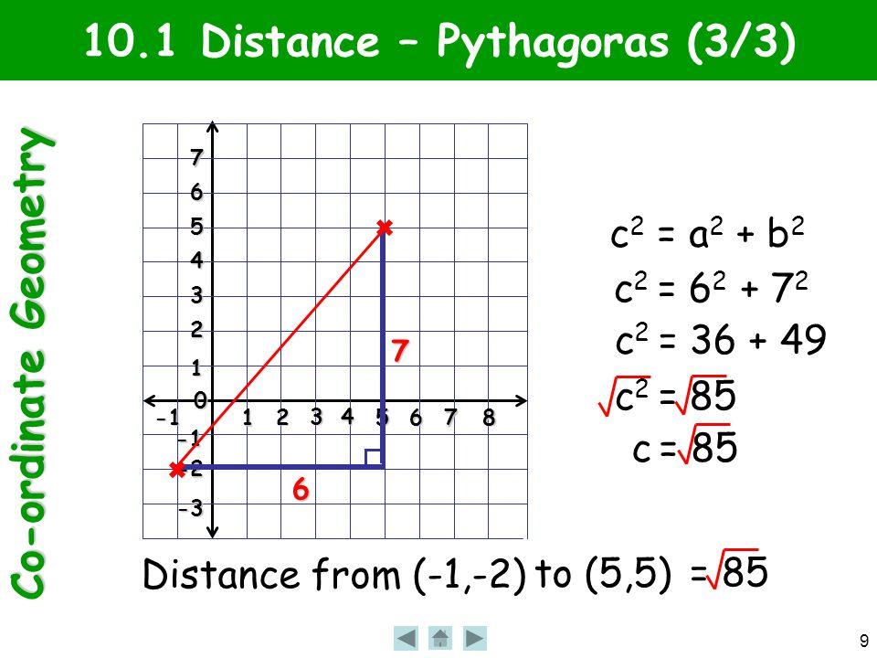 Co-ordinate Geometry 20 10.4 Gradient Formula (5/5) Gradient Gradient of (4,2) to (8,10).