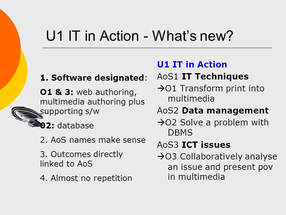 U1 IT in Action - What's new.