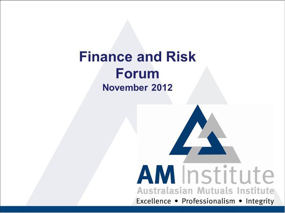 Finance and Risk Forum November 2012