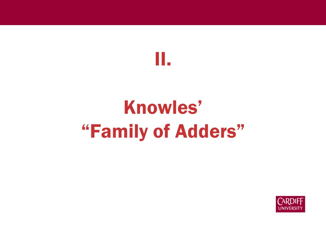 """II. Knowles' """"Family of Adders"""""""