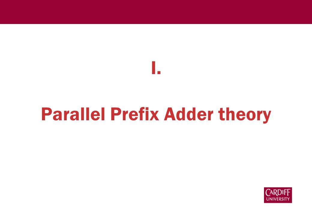 I. Parallel Prefix Adder theory