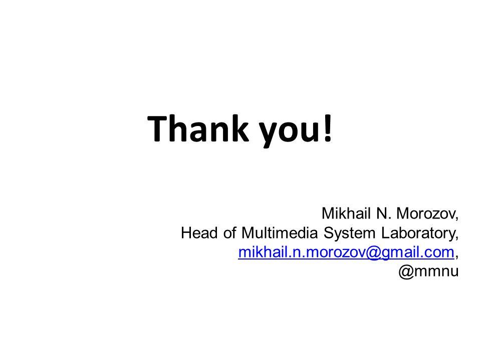 Thank you. Mikhail N.
