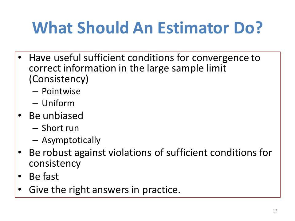 What Should An Estimator Do.