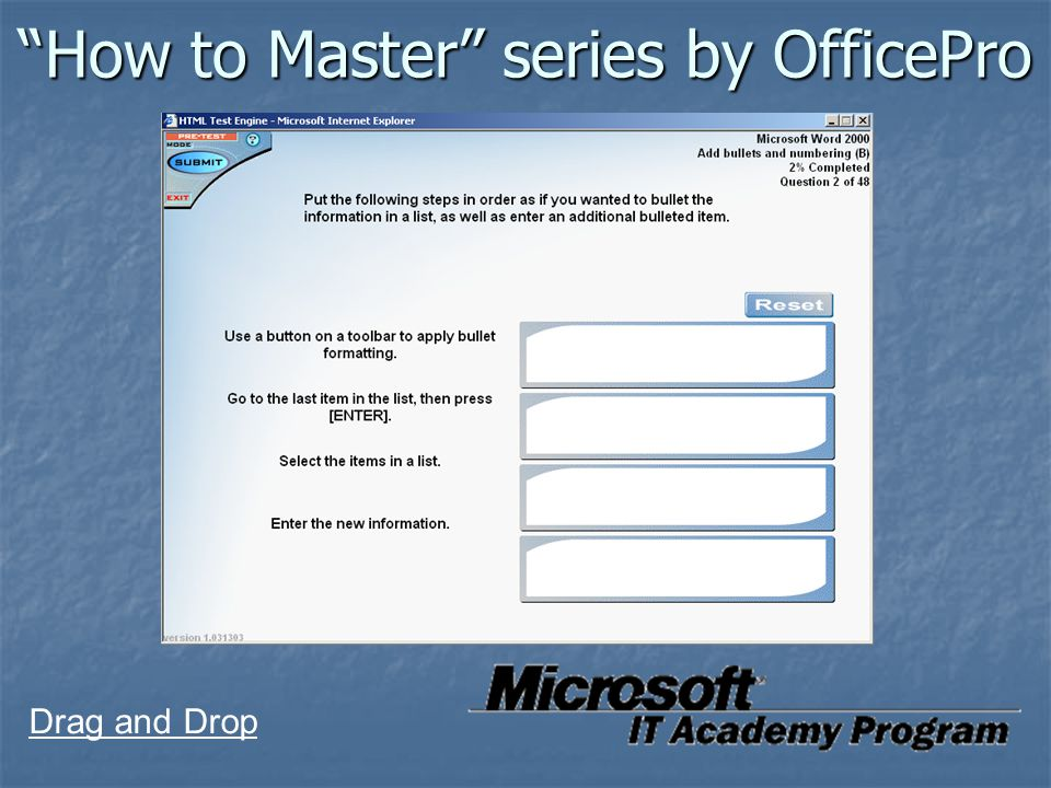 """How to Master"" series by OfficePro Drag and Drop"