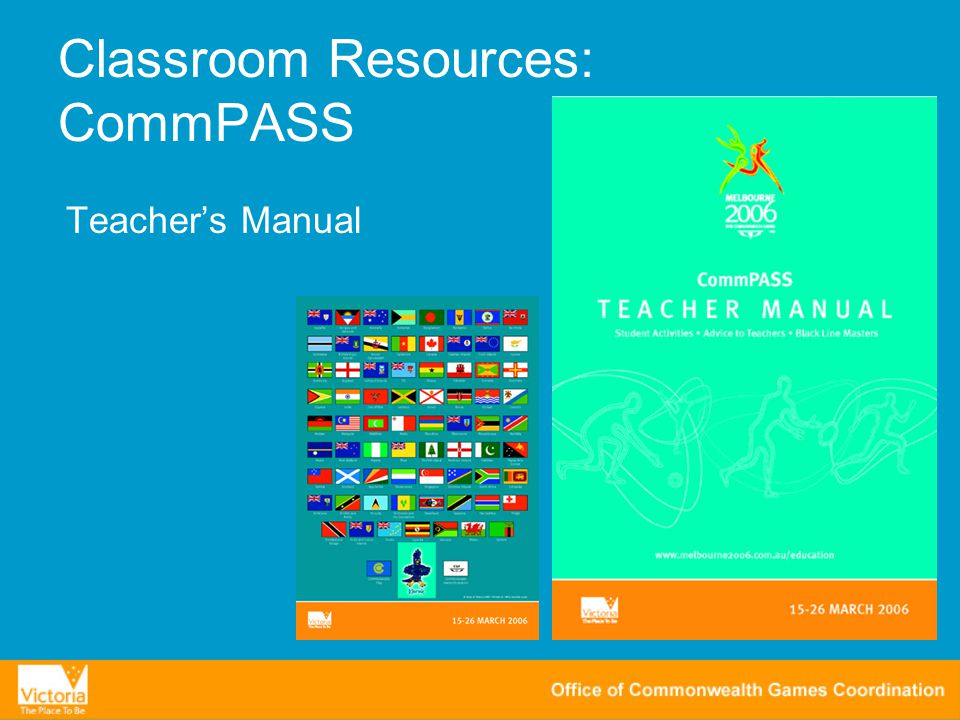 Classroom Resources: CommPASS Teacher's Manual