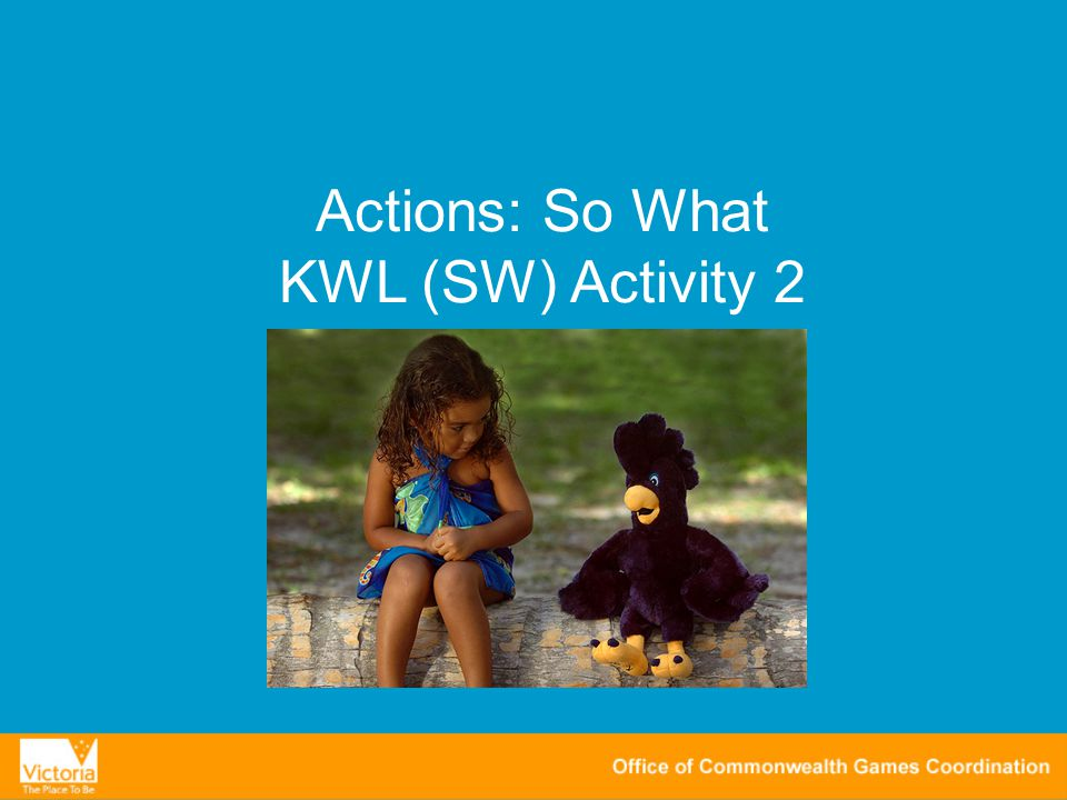 Actions: So What KWL (SW) Activity 2