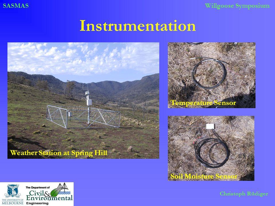 SASMASWillgoose Symposium Christoph Rüdiger Instrumentation Weather Station at Spring Hill Temperature SensorSoil Moisture Sensor