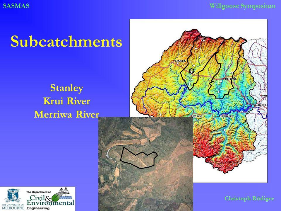 SASMASWillgoose Symposium Christoph Rüdiger Subcatchments Stanley Merriwa River Krui River