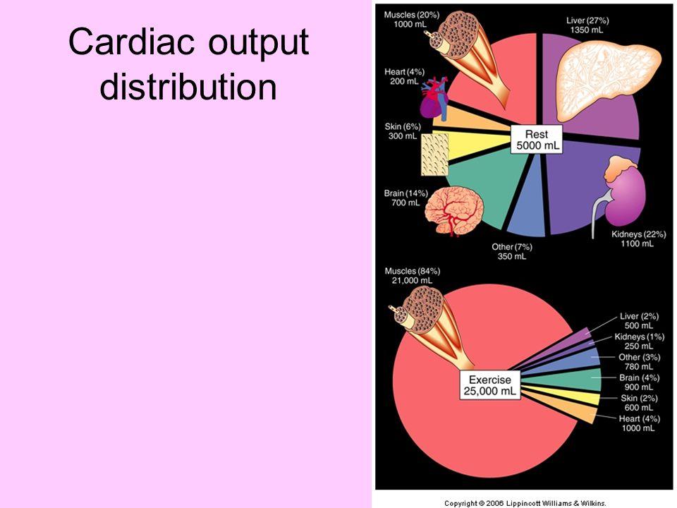 Cardiac output distribution
