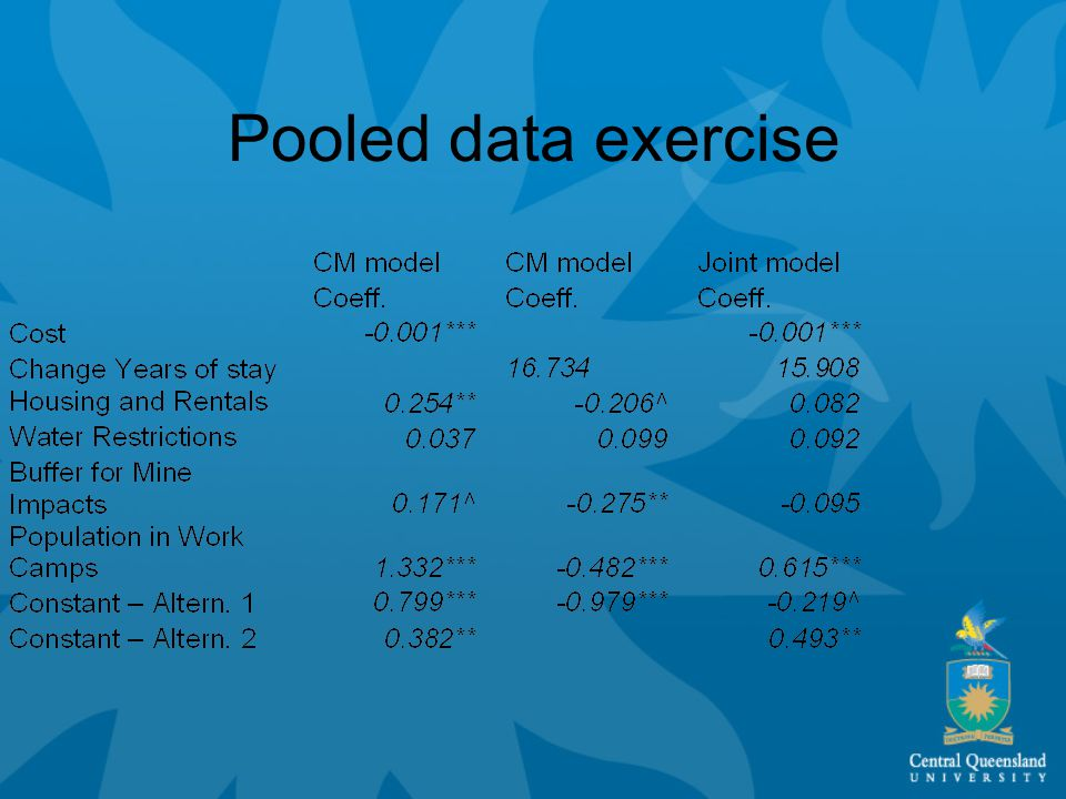 Pooled data exercise